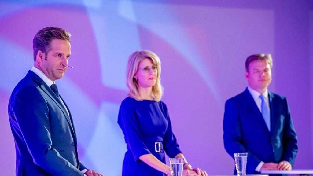 Hugo de Jonge, Mona Keijzer en Pieter Omtzigt. (vlnr)