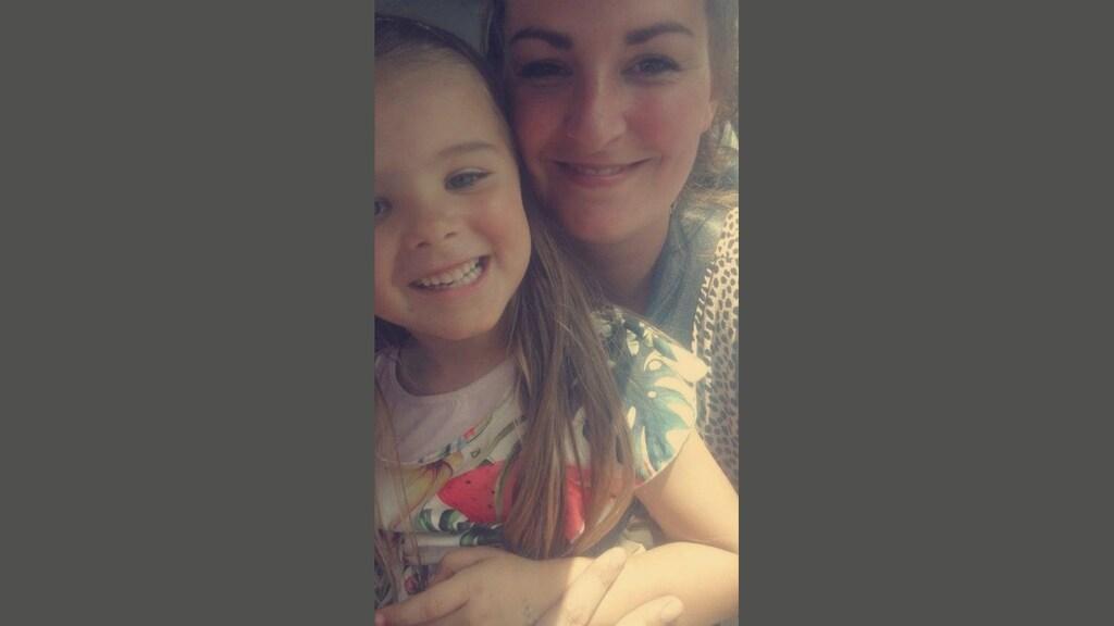 Anke met haar dochtertje