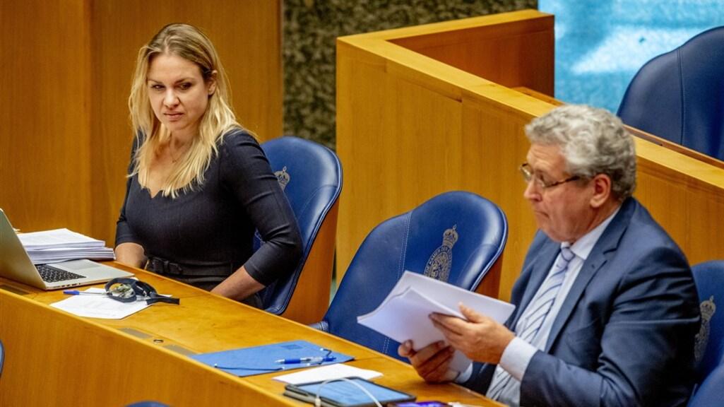 Van Kooten en Krol tijdens een debat in de Tweede Kamer (archieffoto)