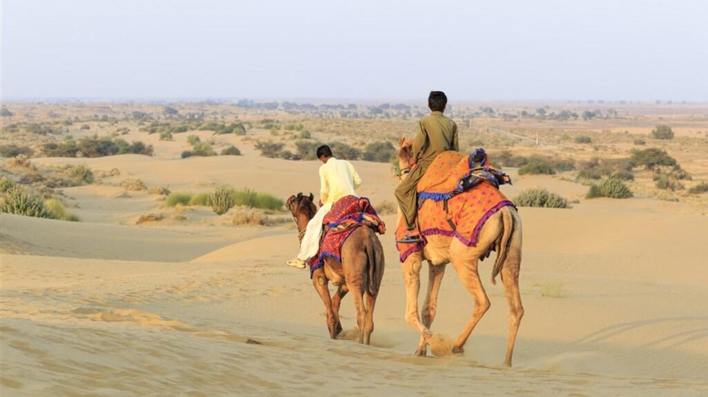 De woestijn in Rajasthan, Inida.