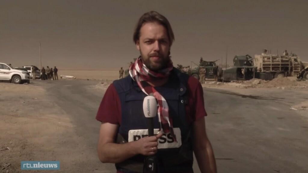 Olaf Koens tijdens de slag om Mosul.