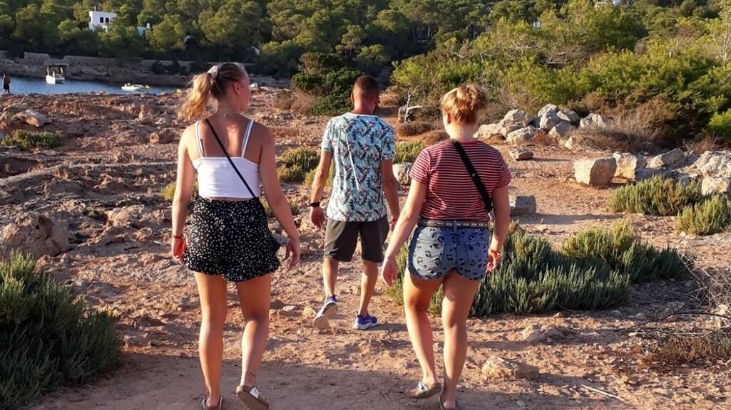 Bianca haar gezin op Ibiza.