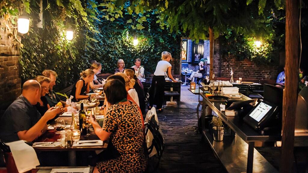 De stadstuin van restaurant Verheyden.