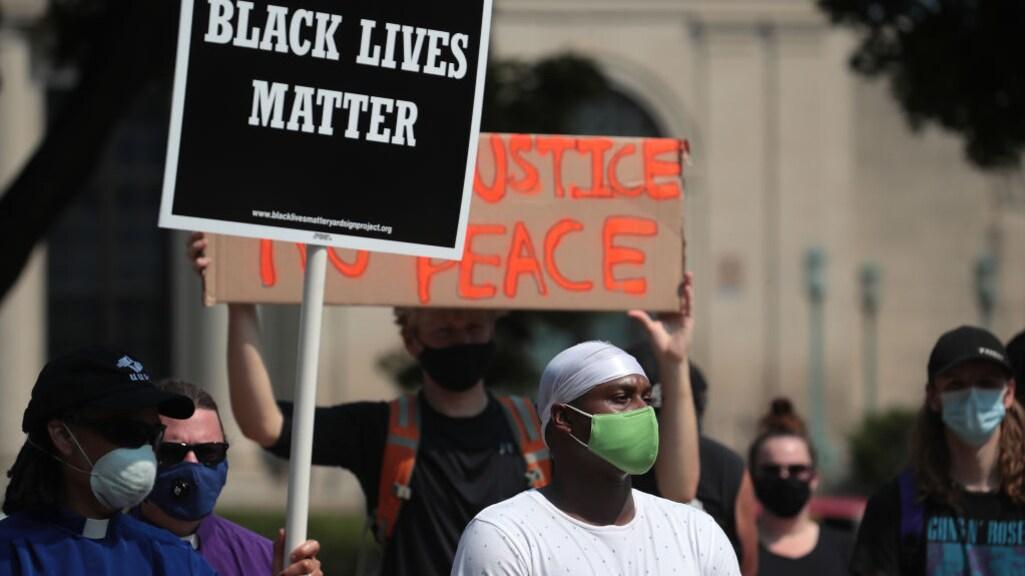 Black Lives Matter-protest na de dood van Jacob Blake.