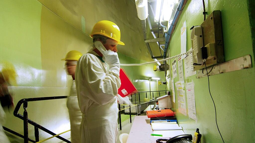 Personeel in een Duitse kerncentrale