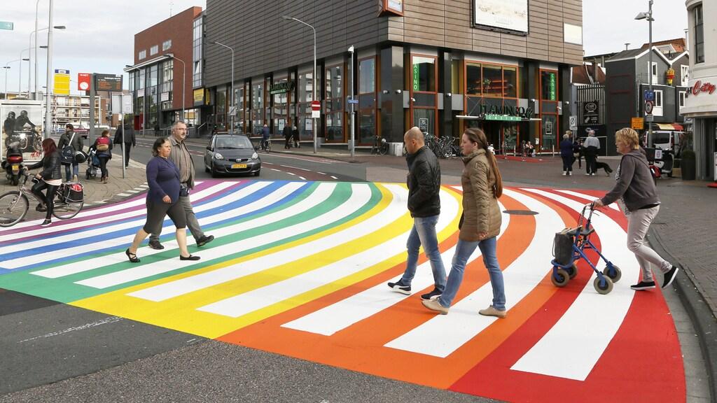 Het regenboogpad in Zaandam