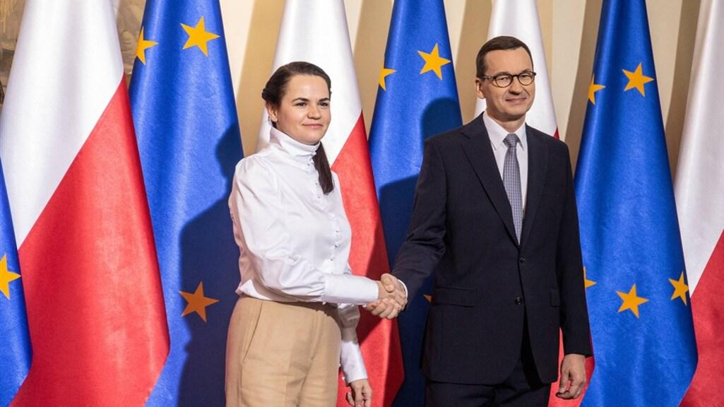 Tichonovskaja sprak vandaag met de Poolse premier.