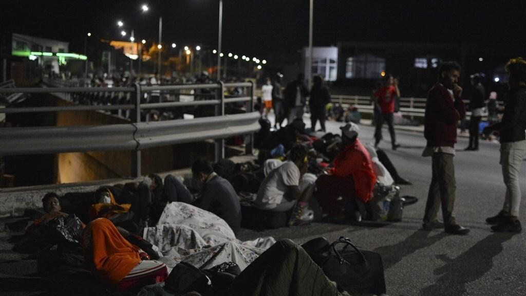De bewoners van het kamp werden geëvacueerd.