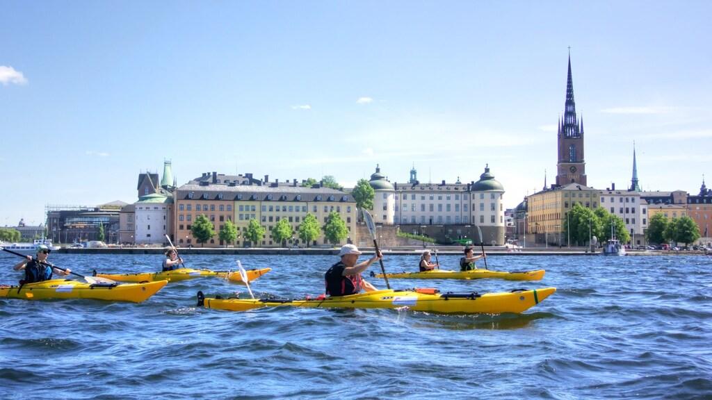 Kajaktour door Stockholm.