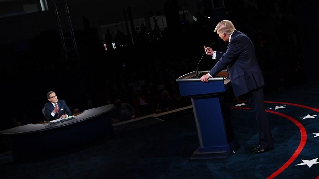President Trump in discussie met debatleider Wallace
