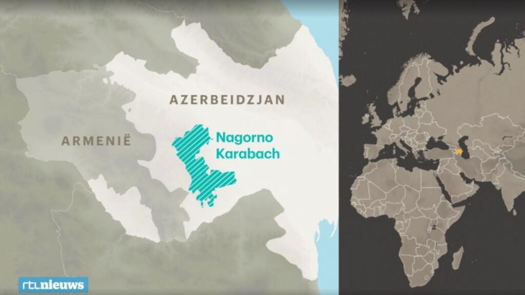 De betwiste regio Nagorno-Karabach ligt in Azerbeidzjan maar wordt bewoond en bestuurd door etnische Armeniërs.