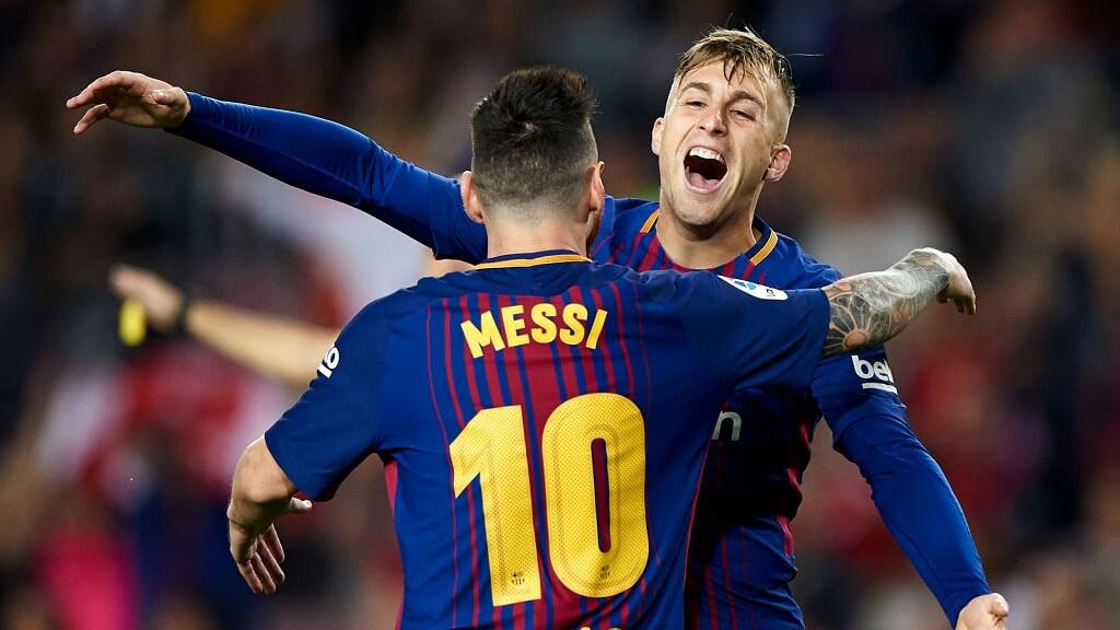 Lionel Messi en Gerard Deulofeu (2017)