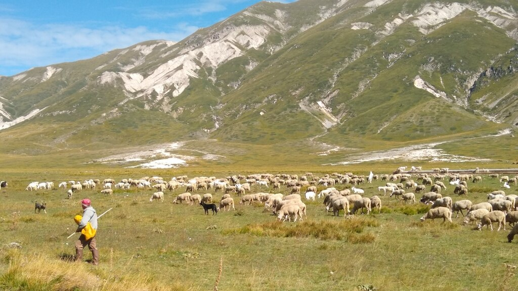 Campo Imperatore, de hoogvlakte vlakbij Santo Stefano di Sessanio.