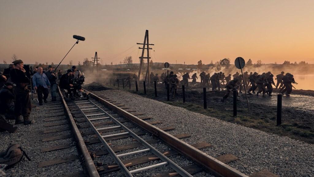 Op de set van De Slag om de Schelde.