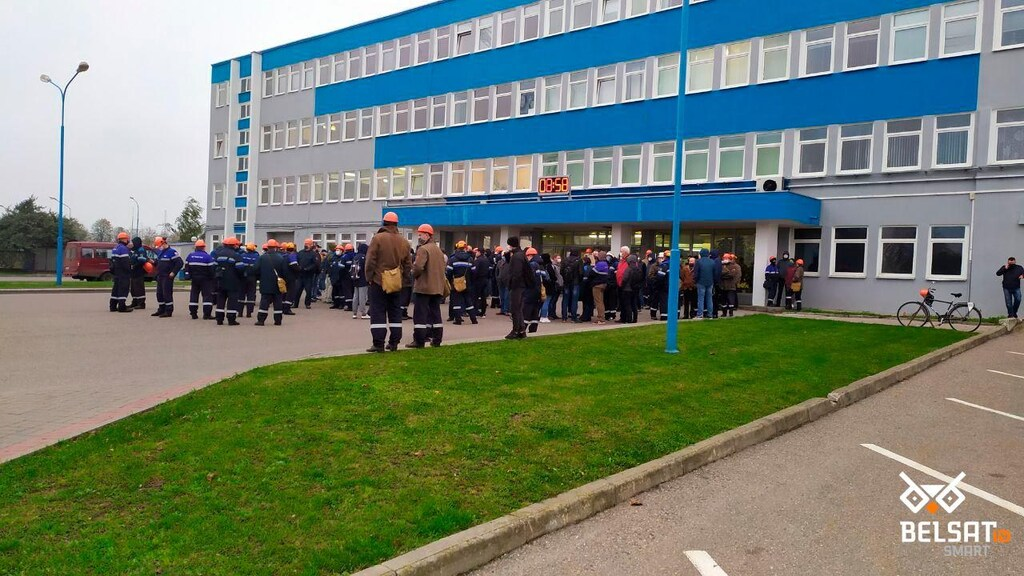 De staking in Grodno ging ook na arrestaties verder