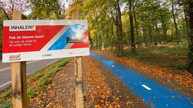 Blauw fietspad in Doorn: 'Maakt fietsen op e-bike veiliger'