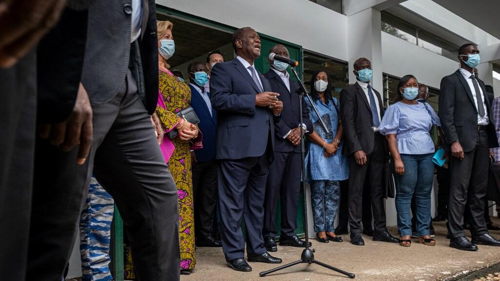 Een toespraak van de president in Ivoorkust.