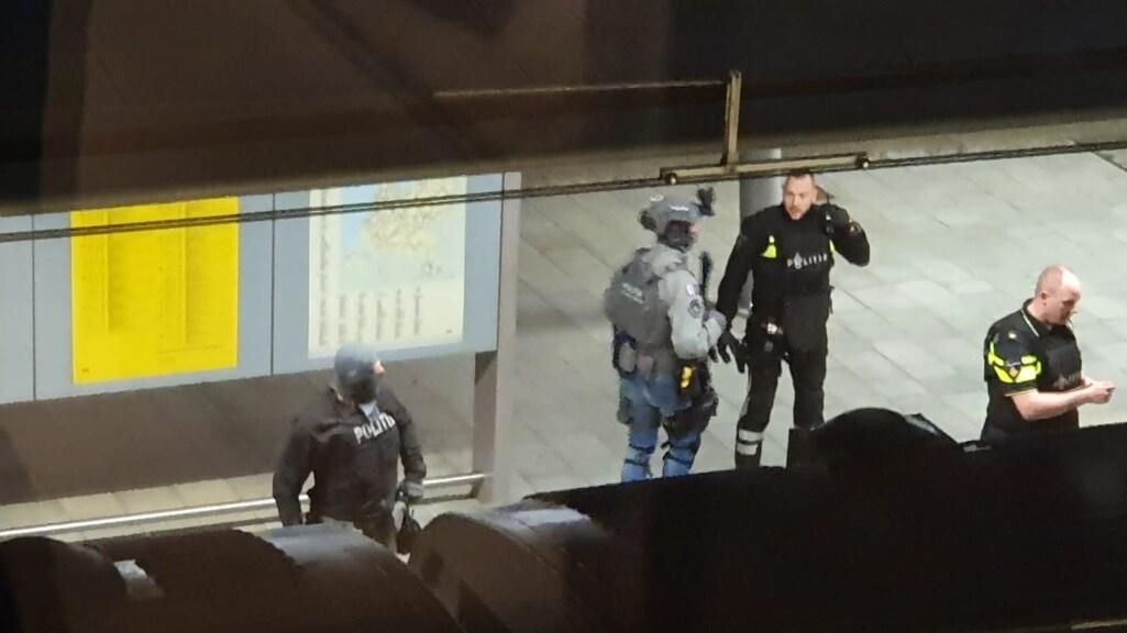 De politieactie gisteren in Utrecht.