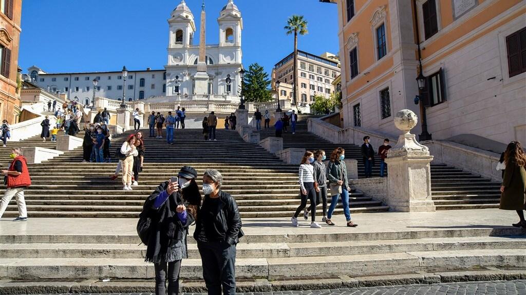 De beroemde Spaanse trappen in Rome.