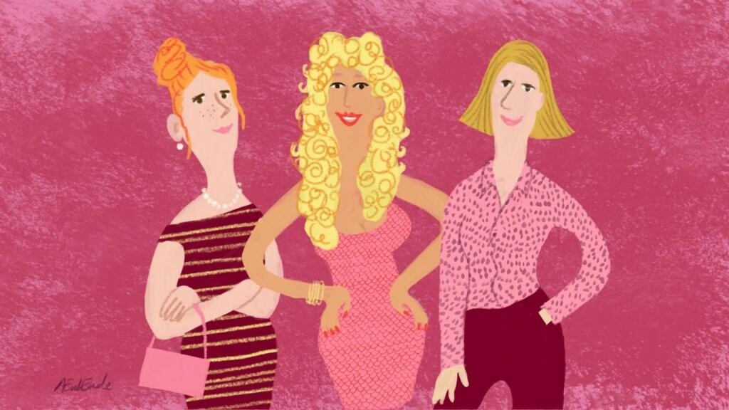 V.l.n.r. Pam, Carola en Julie