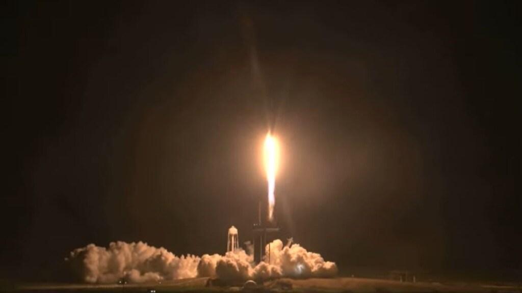 De lancering van de SpaceX.
