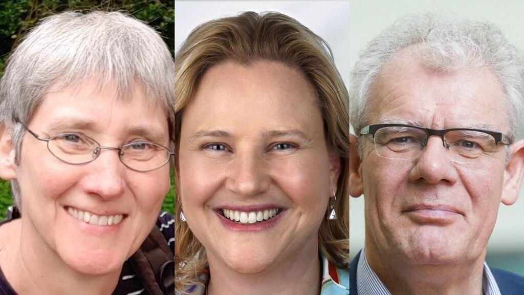 Anke Huckriede (links), Marjolein van Egmond (midden) en Ton de Boer.