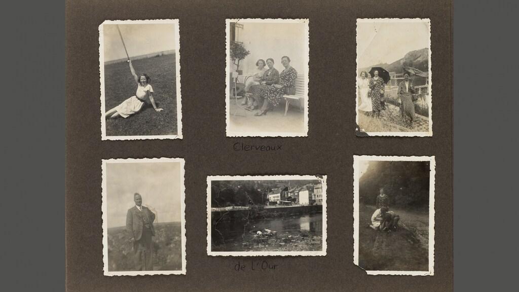 Vakantiefoto's van de familie uit 1935.