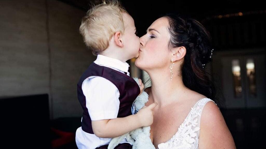 Samen met Ryan op de bruiloft.