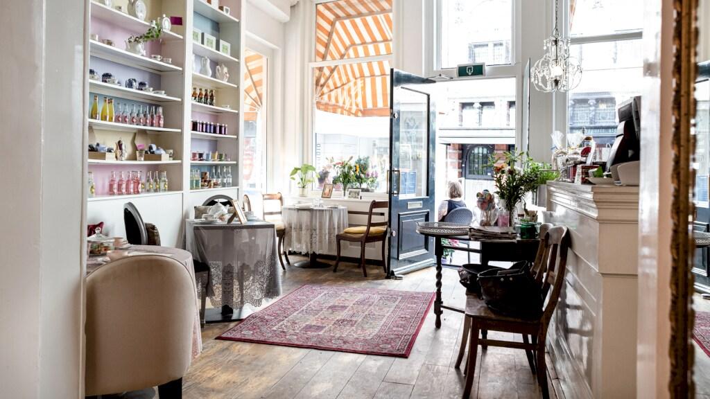 Het Haarlemse lunchrestaurant Bij Babette, waar Sarah eigenaar is.