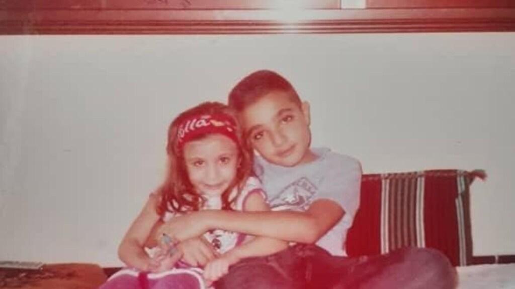 Hanin en haar broer Omar.