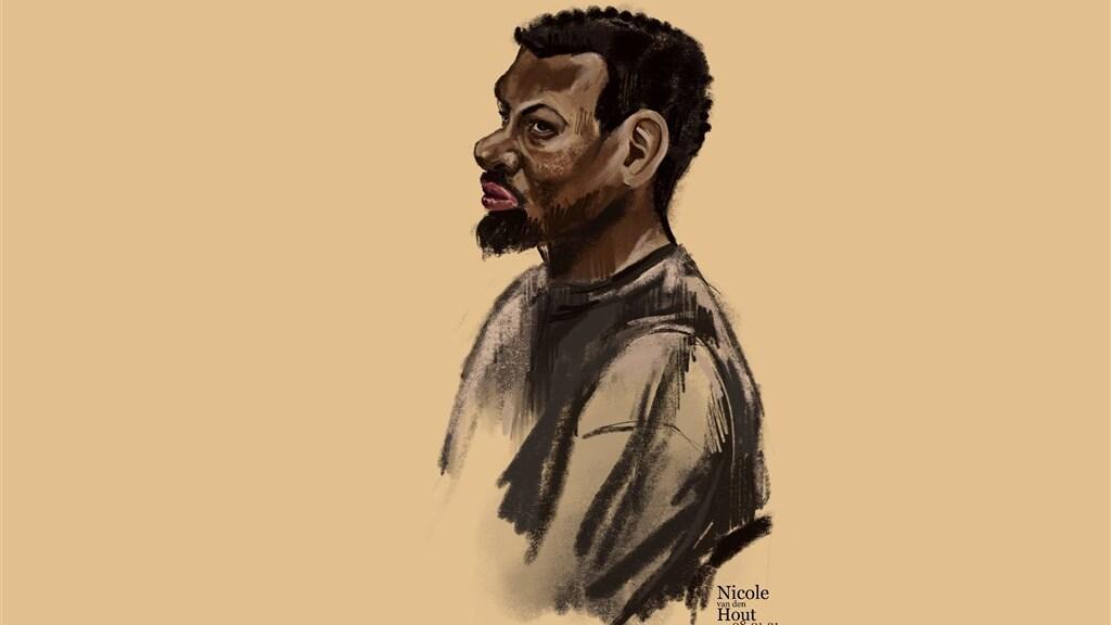 Verdachte Ayoub Y.  in de rechtbank.