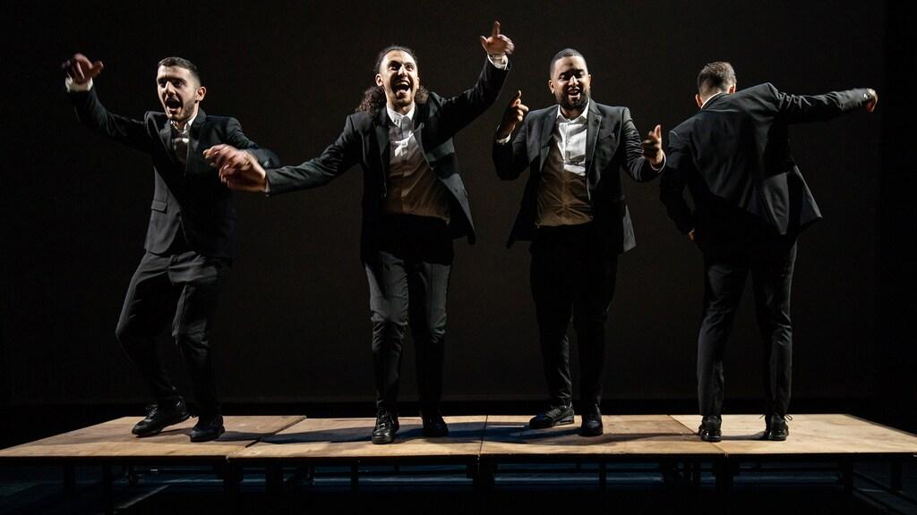 Achraf, Amir en de andere twee hoofdrolspelers in M.A.N.