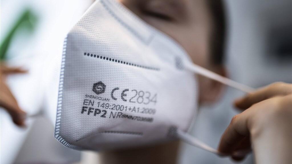 Een FFP2-mondmasker.