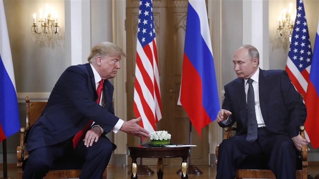 Ontmoeting tussen Trump en Poetin in Helsinki, juli 2018.