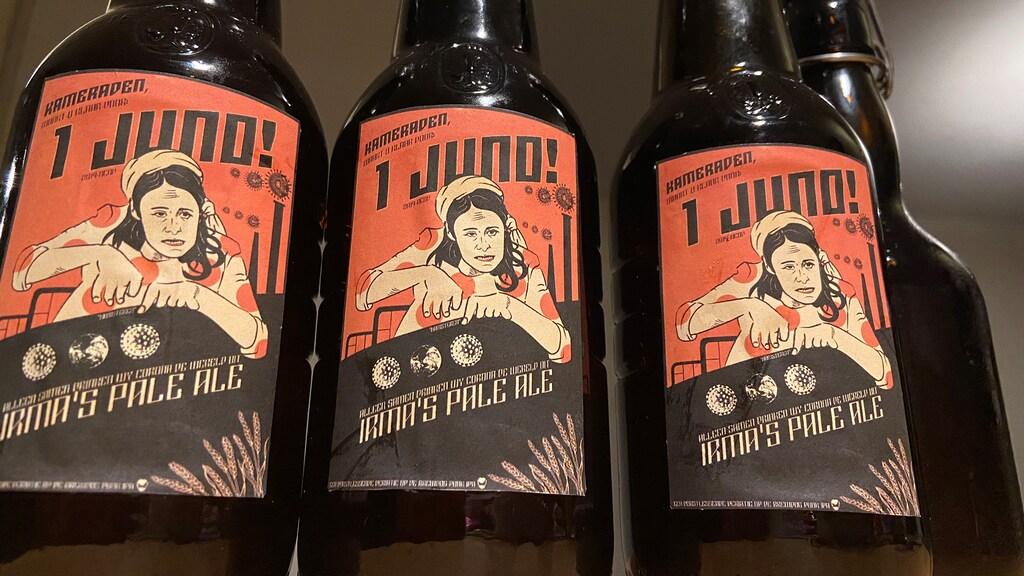 Zelfgebrouwen bier vernoemd naar tolk Irma Sluis.