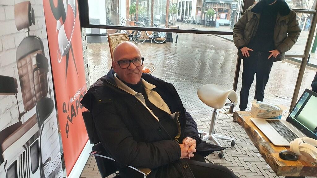 Kapper Ap voert vandaag actie op het Binnenhof.