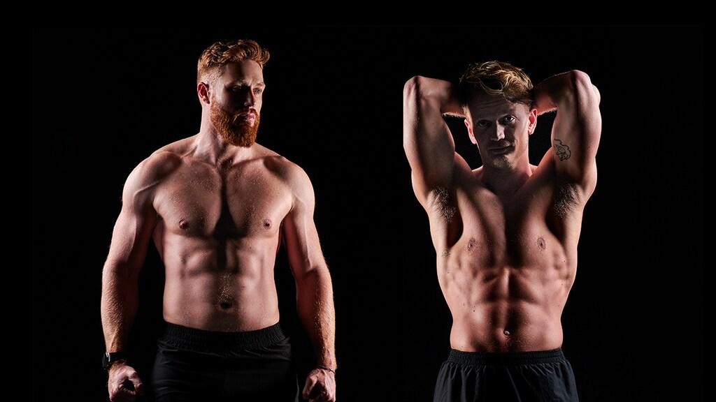 Links: Martyn, rechts: Mart (na de challenge)
