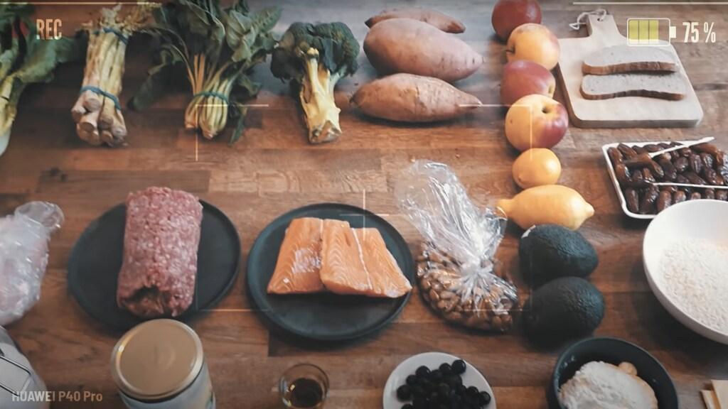 Tafel vol proteïnerijke voeding