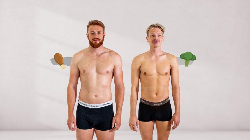Links: Martyn, rechts: Mart (voor de challenge)