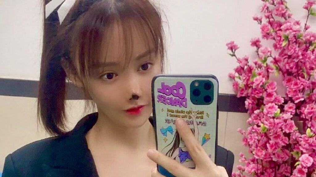 Gao Liu op een andere foto die ze deelde met haar 5 miljoen volgers.