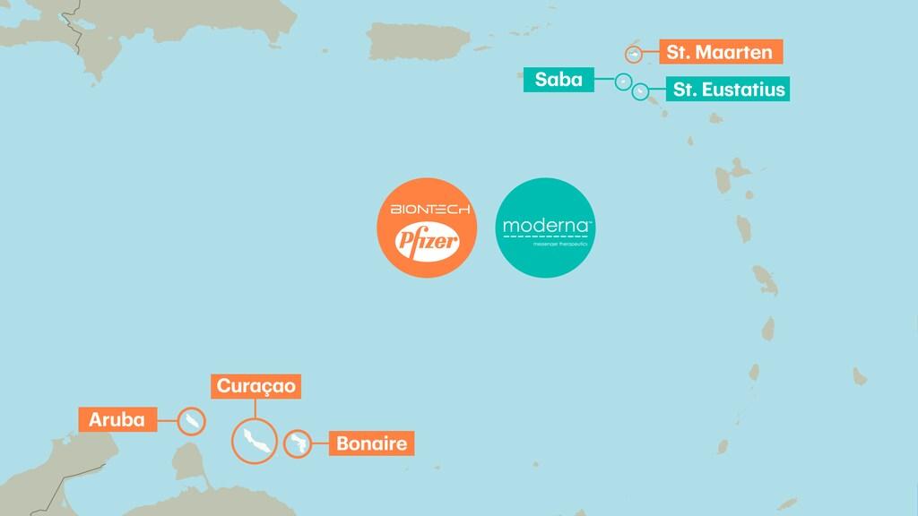 De eilanden in het Caribisch deel van het Koninkrijk en de vaccins waar zij mee gaan prikken.