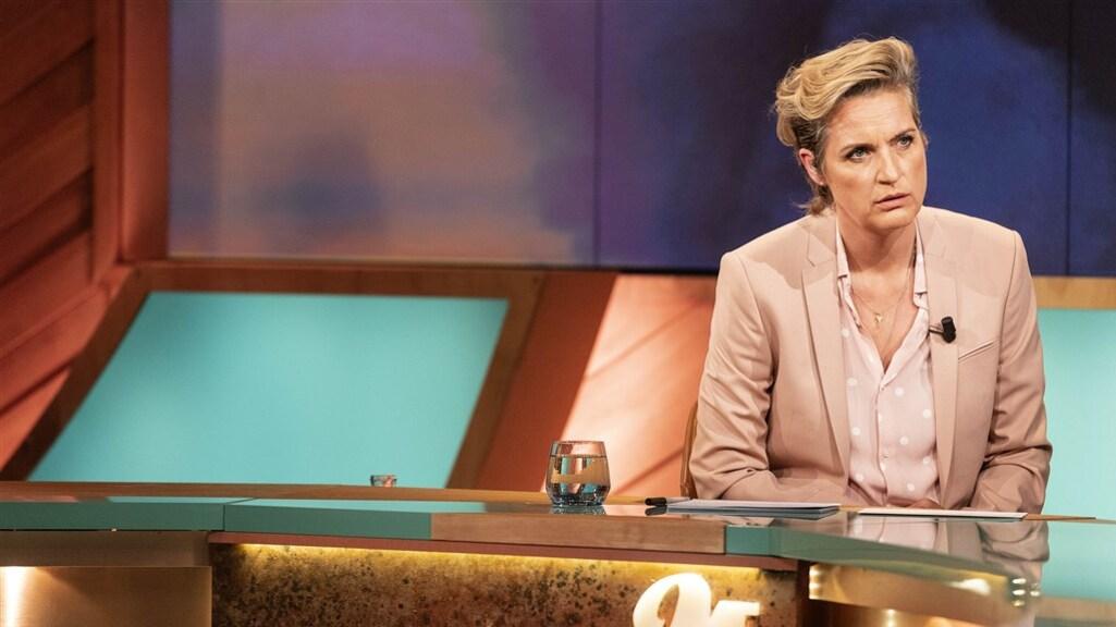 M-presentator Margriet van der Linden.