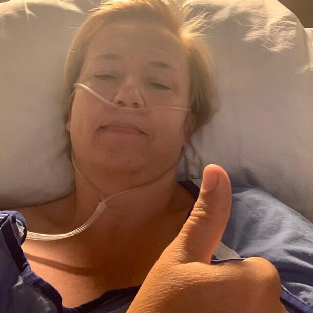 Dianne na haar operatie.