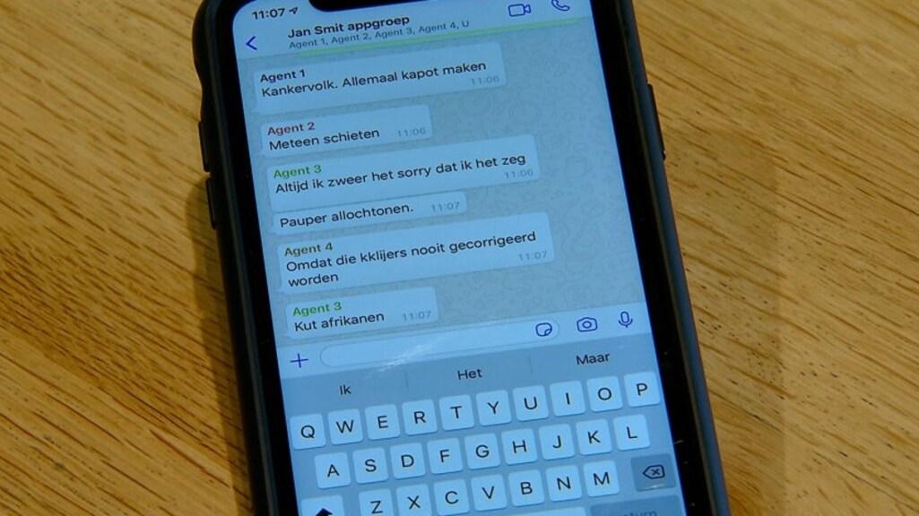 Beelden van de gesprekken in de betreffende appgroep.