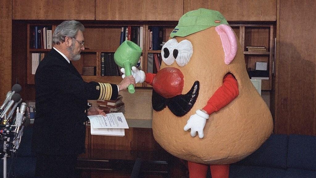 In 1987 leverde Mr. Potato Head zijn pijp in