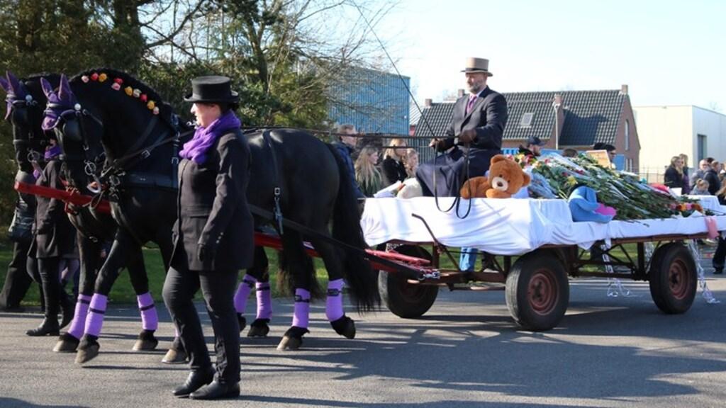 De uitvaart van Isabelle (foto Dylan de Lange / RTV Drenthe)
