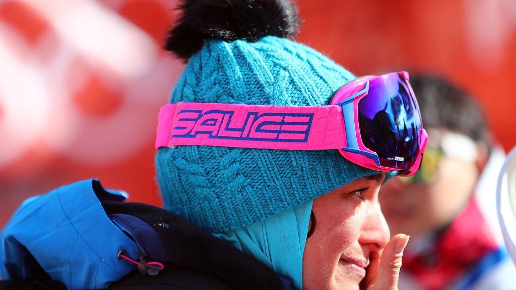 Samira Zargari tijdens de Olympische Winterspelen in Zuid-Korea, 2018