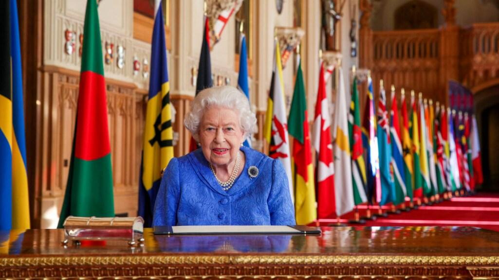 Koningin Elizabeth tijdens Commonwealth Day