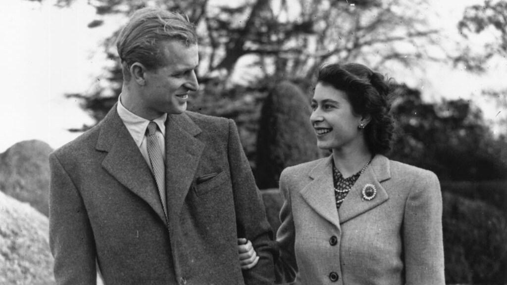 Huwelijksreis queen Elizabeth en prins Philip