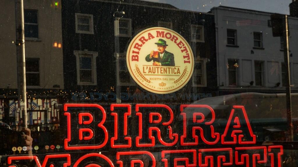 Birra Moretti is ook te koop in deze pub in Dublin.
